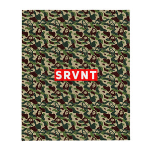 SRVNT Jesus Camo Throw Blanket