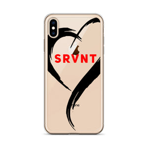 iPhone Case-Black SRVNT Heart