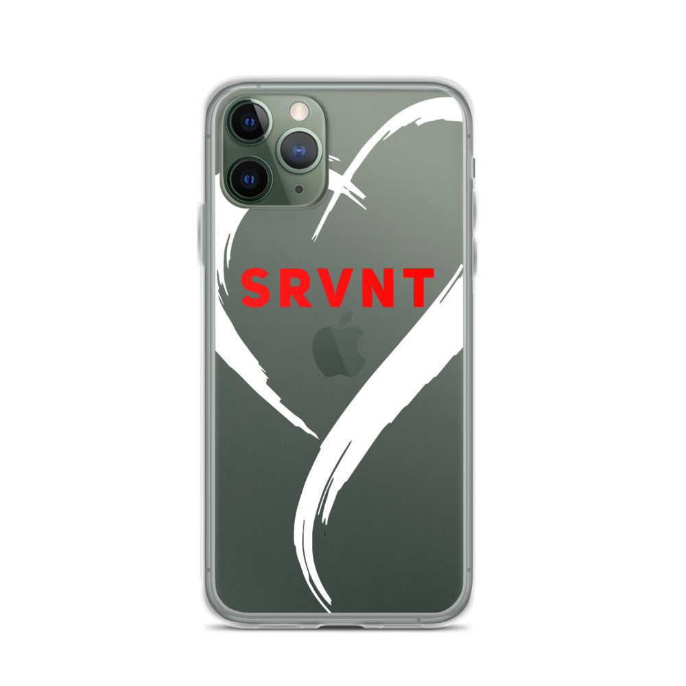 iPhone Case-White SRVNT Heart