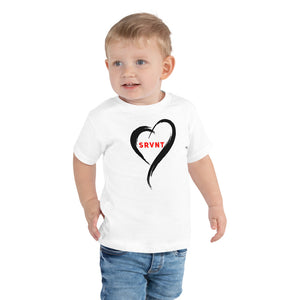Toddler SRVNT Heart Short Sleeve- White