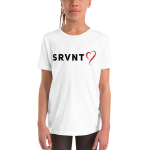 Youth SRVNT Heart Short Sleeve- Black & Red