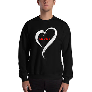 SRVNT Heart- Sweatshirt Black