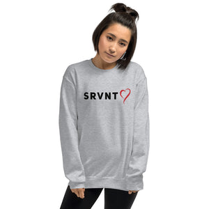SRVNT Heart Sweatshirt- Grey/Black
