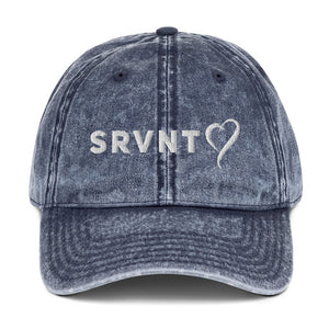 SRVNT Heart Vintage Cap- Denim