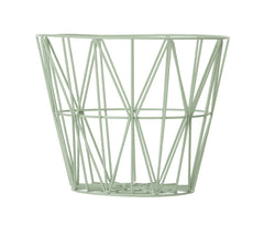 Wire Basket Dusty Green
