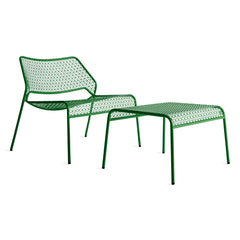Green Hot Mesh Lounge Chair & Ottoman