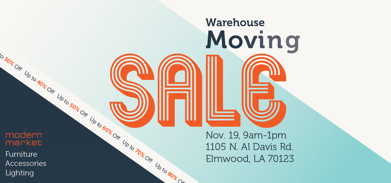 Modern Market Warehouse Moving Sale