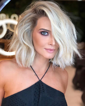 Amazing Lovely White Curly Short Wig