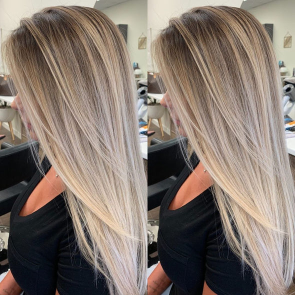2019 beauty natural blond Straight wig