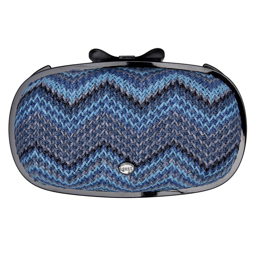 IPhone Purse Case SE, 5 & 5S Delicious Agent Antibes Grass Chevron Dark Blues