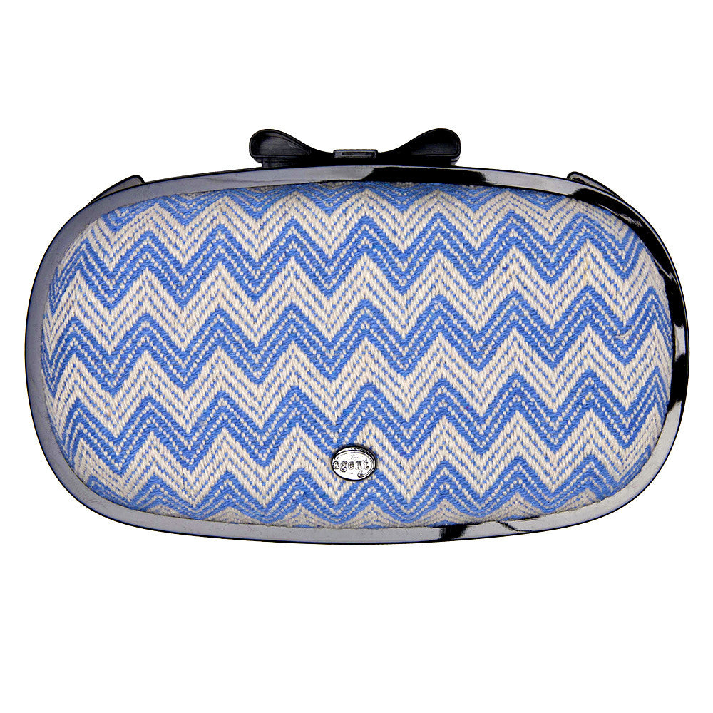 IPhone Purse Case SE, 5 & 5S Delicious Agent Chevron Light Blue