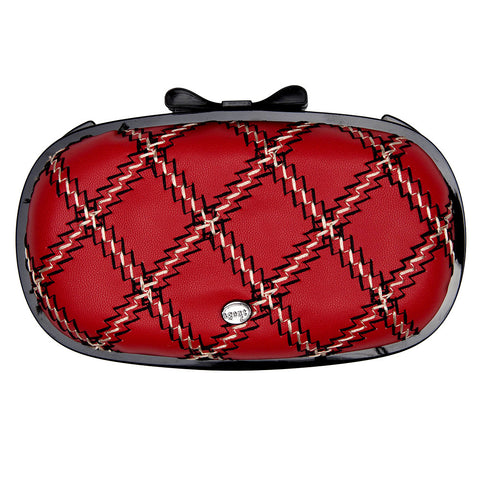 IPhone Purse Case SE, 5 & 5S Delicious Agent French Quilt Double Stitch Red