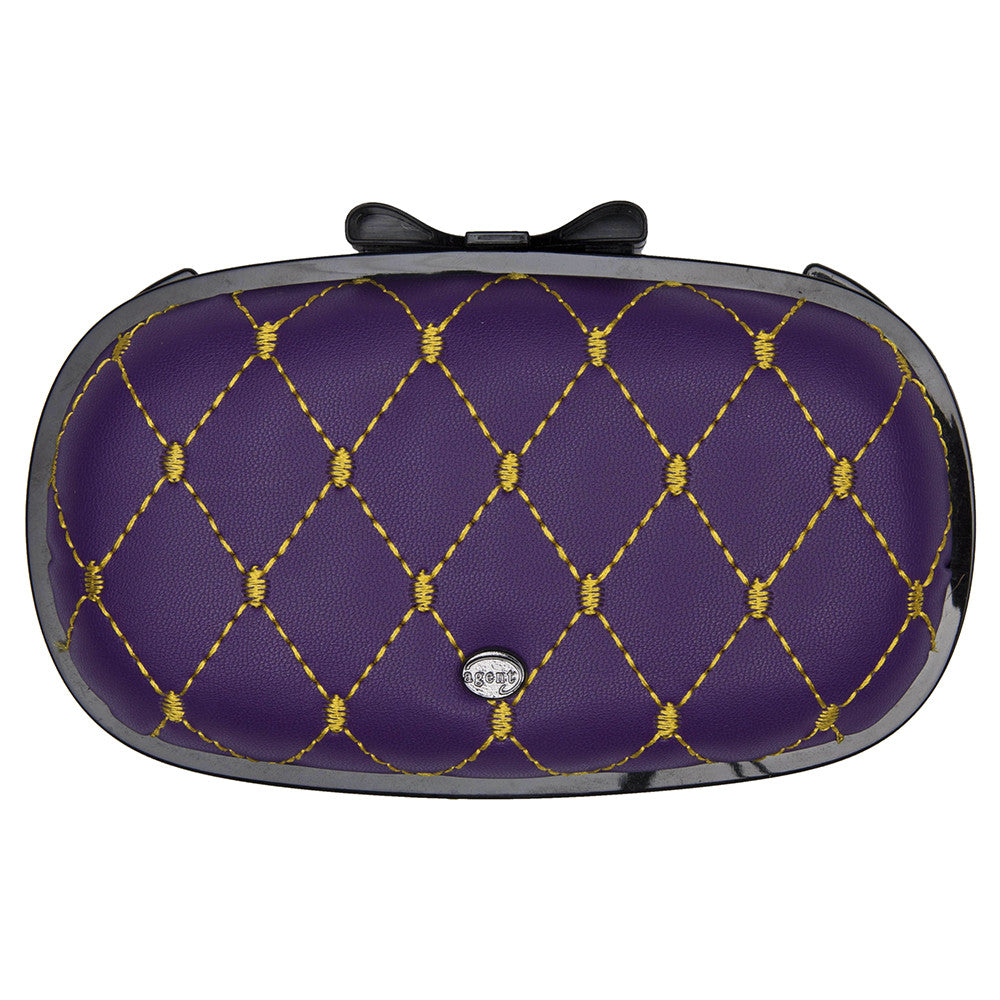 IPhone Purse Case SE, 5 & 5S Delicious Agent French Quilt Purple / Gold