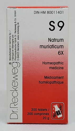Natrum muriaticum 6x S9 - Dr. Kohli's Herbal Products