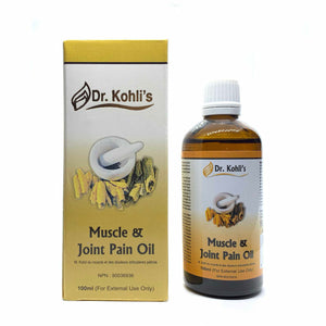 Dr Kohli's Muscle and Joint Pain Oil- All natural pain relieving massage oil