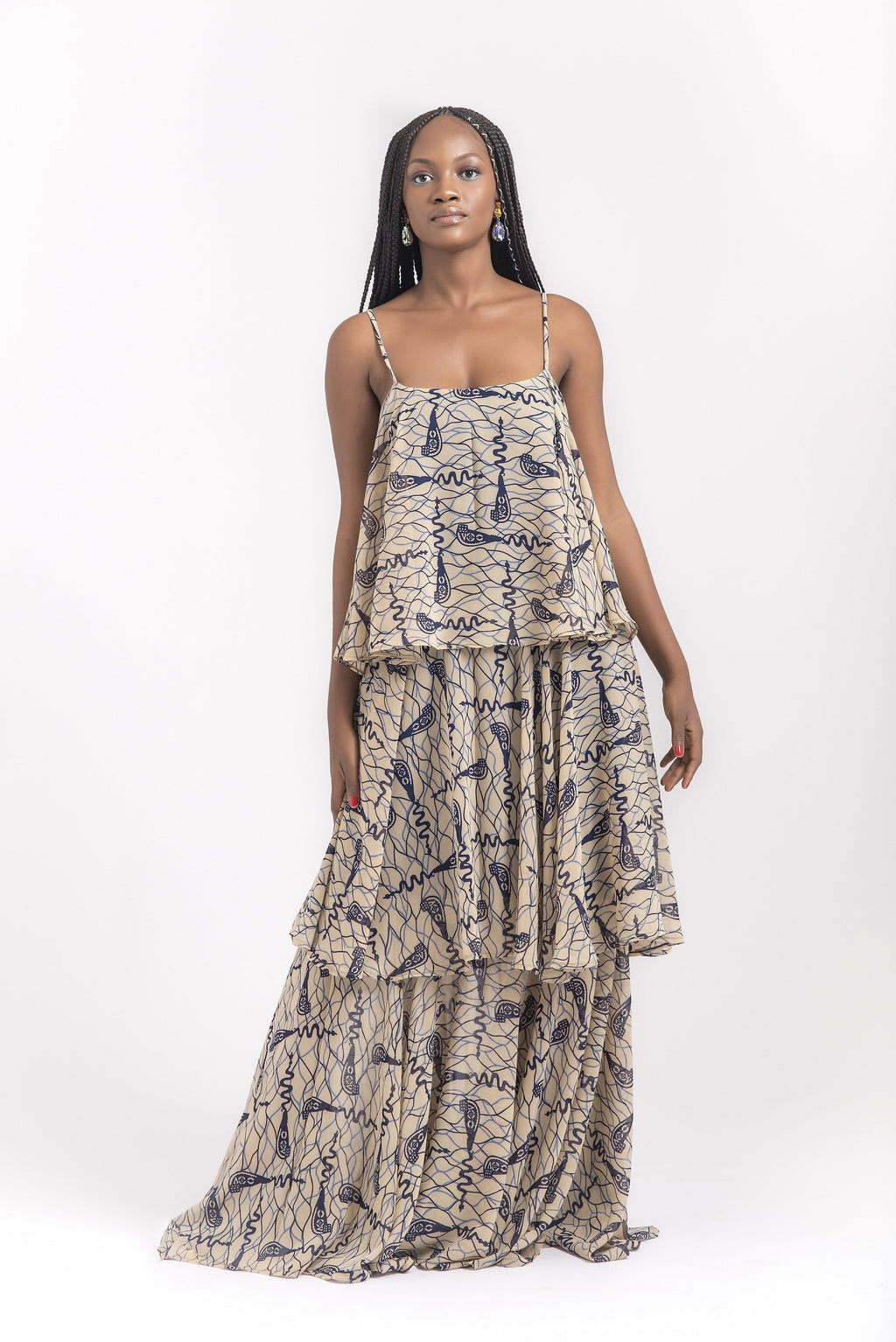 THREE TIER MAXI DRESS