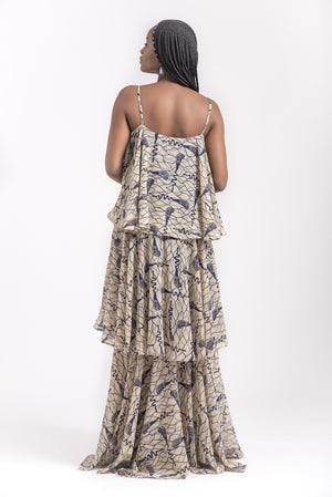 THREE TIERED MAXI DRESS