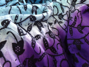 PURPLE AND BLUE VINE OMBRE PRINT