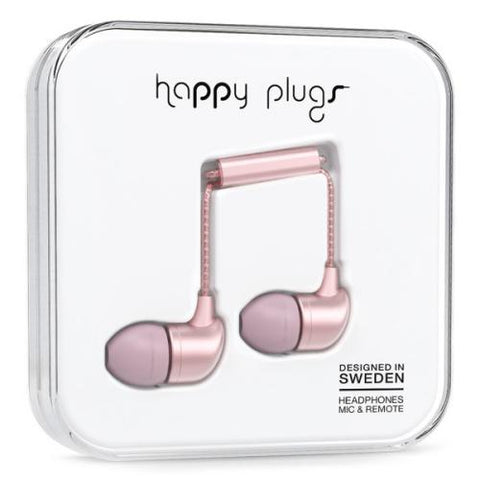 Happy Plugs In-Ear Earbuds - Pink Gold
