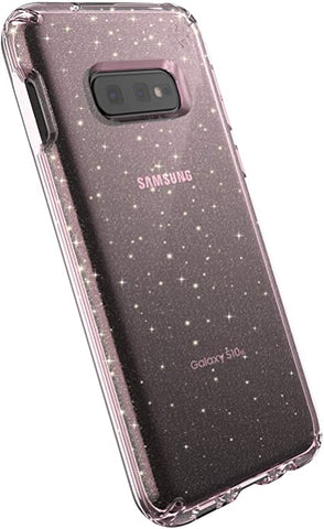 SPECK Presidio Clear for Samsung Galaxy S10E - Glitter Bella Pink with Gold Glitter/Bella Pink