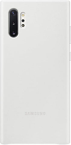 Samsung Galaxy Note10 Plus Case, Leather Back Protective Cover - White