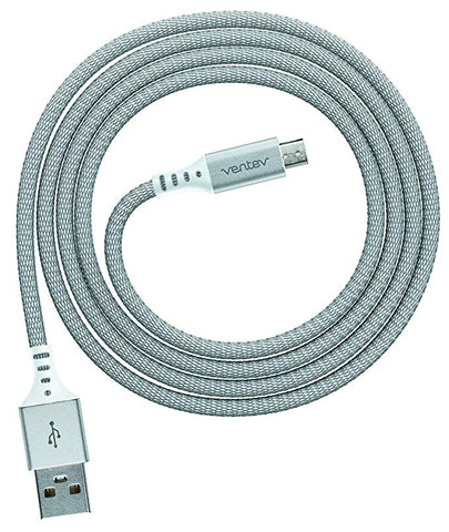 Ventev chargesync Alloy Cable, Micro USB, 4ft, Silver
