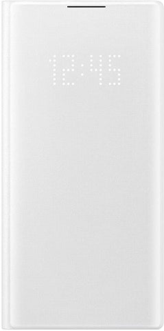Samsung Galaxy Note10 Case, LED Wallet Cover - White