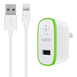Belkin Boost Up 12w 2.4a Car, Home Adaptor With Lighting Cable - White