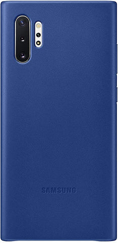 Samsung Galaxy Note10 Plus Case, Leather Back Protective Cover - Blue