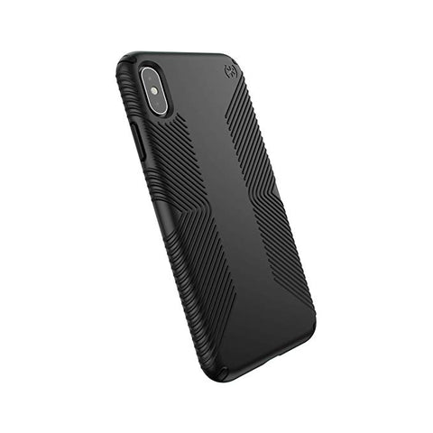 Speck Products Compatible Phone Case for Apple iPhone XS Max, PRESIDIO GRIP Case, Black/Black