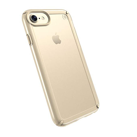 Speck Products Presidio Show Cell Phone Case for iPhone 7 Plus, 6S Plus and 6 Plus - Clear/Pale Yellow Gold