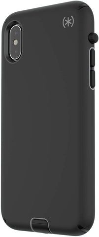 Speck Products Compatible Phone Case for Apple iPhone XR, Presidio Sport Case, Black/Gunmetal Grey/Black