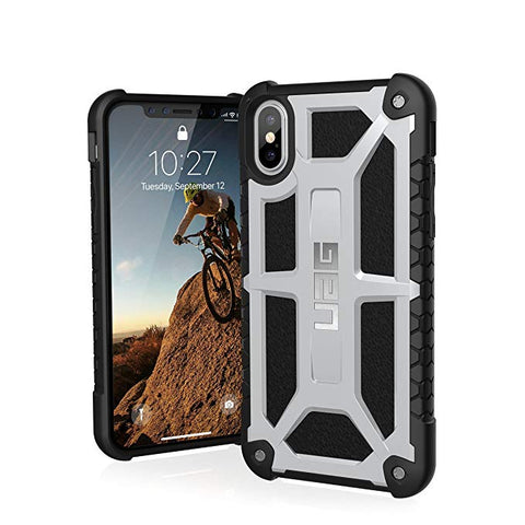 UAG iPhone Xs/X Monarch Feather-Light Rugged [Platinum] Military Drop Tested iPhone Case