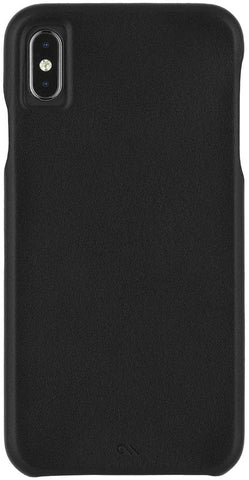 Case-Mate - iPhone XS Max Case - BARELY THERE LEATHER - iPhone 6.5 - Black Leather