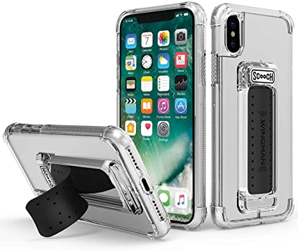 Scooch Wingman Case for iPhone Xs Max (Clear)