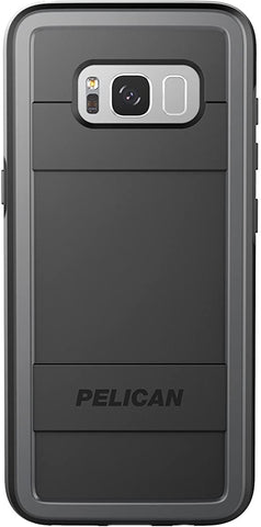 Pelican Cell Phone Case for Galaxy S8 Plus - Black/Light Gray