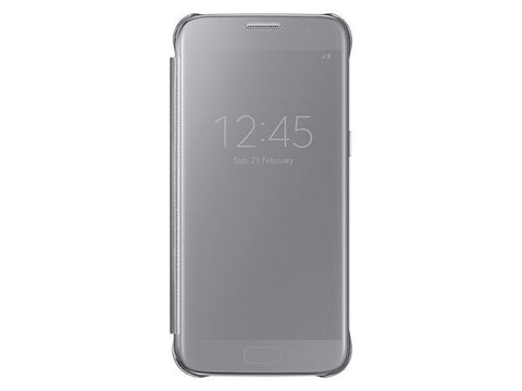 Samsung Clear View Cover for Galaxy S7 - Silver
