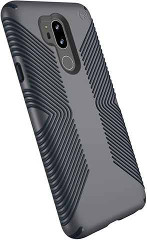Speck Products Compatible Case for LG G7 ThinQ, Presidio Grip Case, Graphite Grey/Charcoal Grey