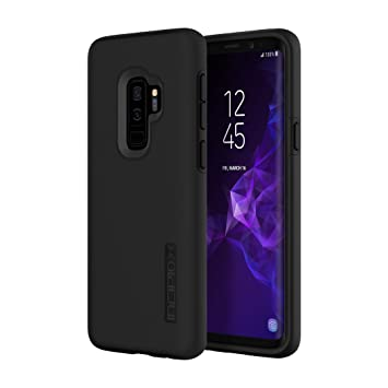 Incipio DualPro Samsung Galaxy S9 Plus Case with Shock-Absorbing Inner Core Protective Outer Shell for Samsung Galaxy S9 Plus (2018) - Black