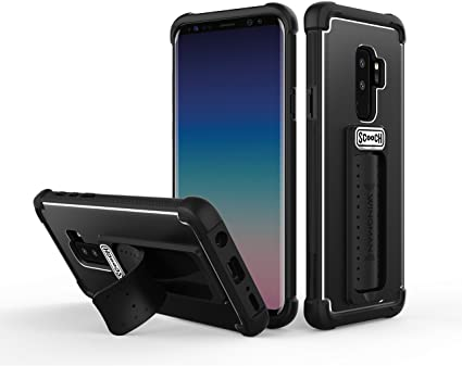 Scooch Wingman 5-in-1 Case for The Samsung Galaxy S9 Plus (Black)