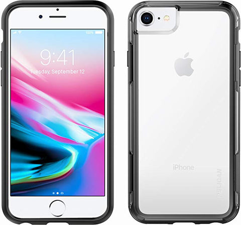 iPhone 8 Case | Pelican Adventurer Case - fits iPhone 6/6s/7/8 (Clear/Black)