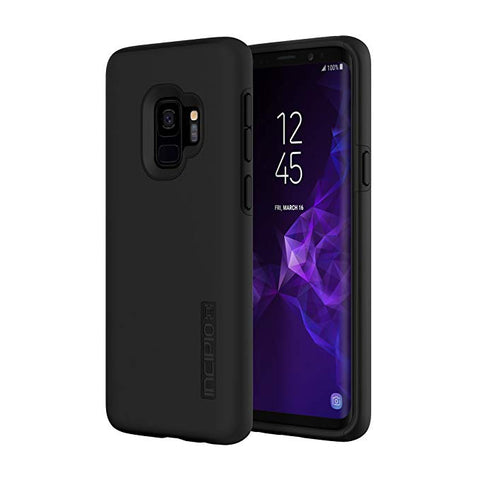 Incipio DualPro Samsung Galaxy S9 Case with Shock-Absorbing Inner Core & Protective Outer Shell for Samsung Galaxy S9 (2018) - Black
