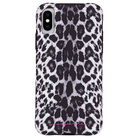 Case-Mate - iPhone XS Case - WALLPAPERS - iPhone 5.8 - Gray Leopard