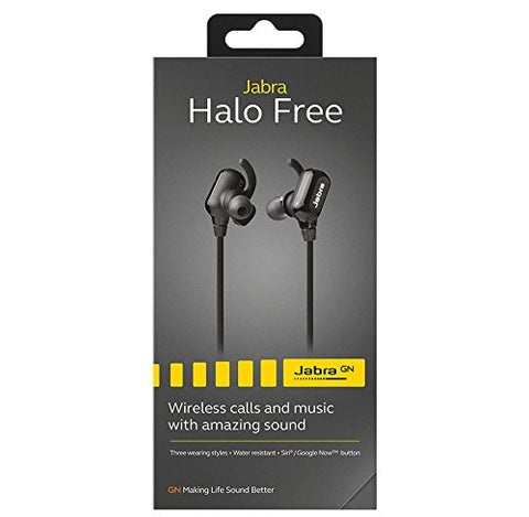 Jabra Halo Free Wireless Bluetooth Stereo Earbuds (Retail Packaging)
