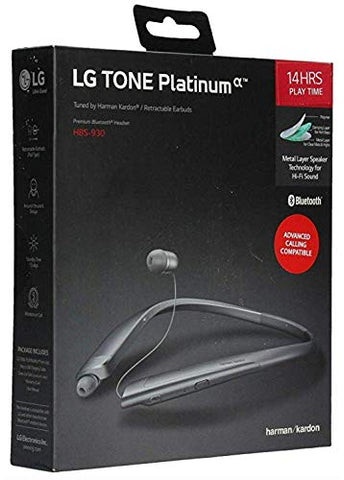 LG HBS-930 TONE PLATINUM BLUETOOTH HEADSET - BLACK