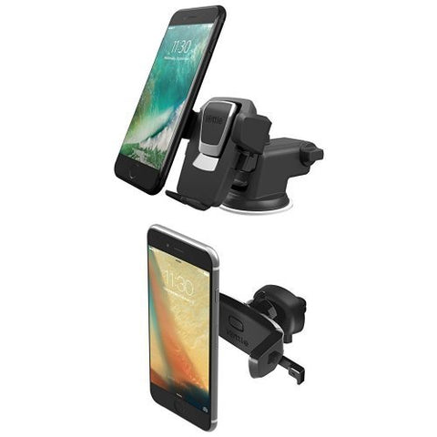 iOttie Easy One Touch 3 (V2.0) Car Mount Universal Phone Holder + Easy One Touch Mini Air Vent Car Mount Holder Cradle