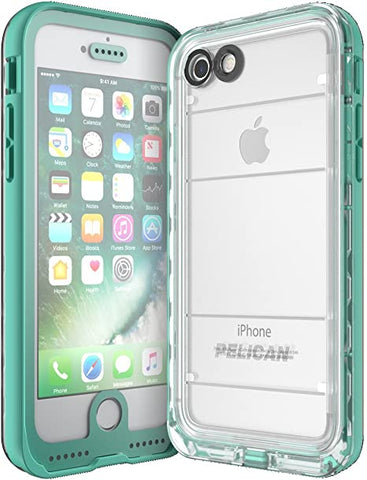 Pelican Marine Waterproof Case for iPhone 7 - Teal/Clear