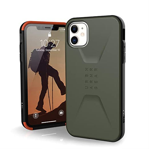 UAG Designed for iPhone 11 [6.1-inch Screen] Civilian Feather-Light Rugged [Olive Drab] Military Drop Tested iPhone Case