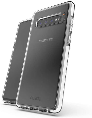 Gear4 Piccadilly Clear Case with Advanced Impact Protection [ Protected by D3O ], Slim, Tough Design for Samsung Galaxy S10 Plus - White