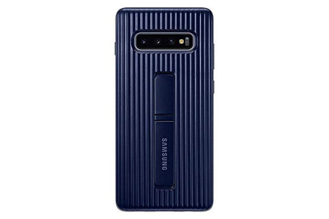 Samsung Galaxy S10 Rugged Protective Case with Kickstand, Blue